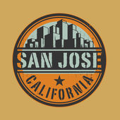 Stamp or label with name of San Jose California