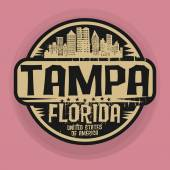 Stamp or label with name of Tampa Florida