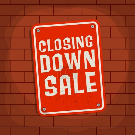 Sign with text Closing Down Sale