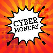 Comic explosion with text Cyber Monday