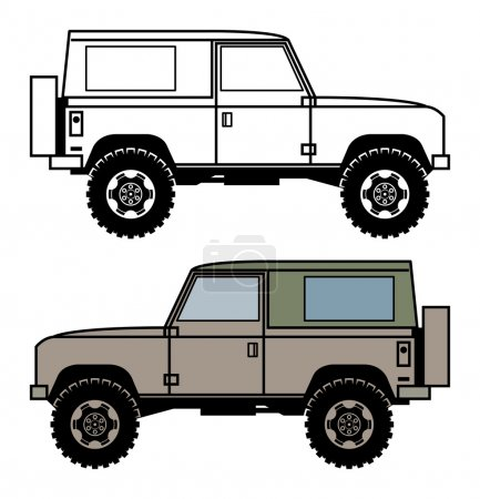 Off-road vehicle, vector
