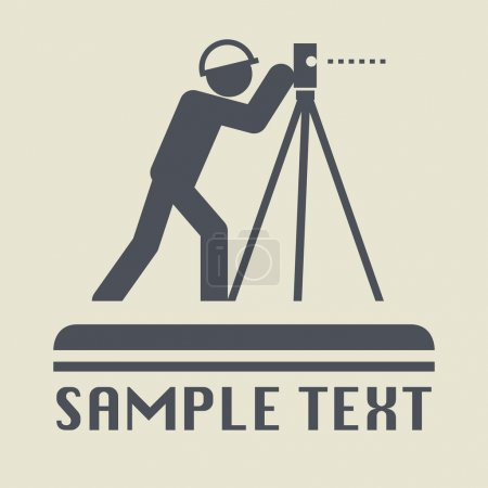 Land surveyor icon or sign