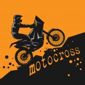 Motocross abstract background vector illustration
