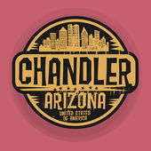 Stamp or label with name of Chandler Arizona