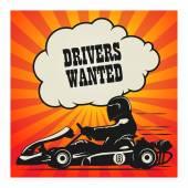 Karting Go Cart race poster