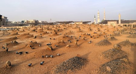 Muslim cemetary at Nabawi Mosque in Madinah.