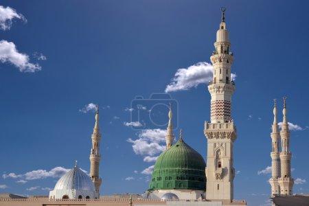 Dome and minarets of masjid nabavi