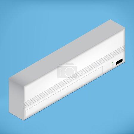 White isometric Airconditioner