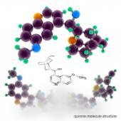 Struktura molekuly chinin