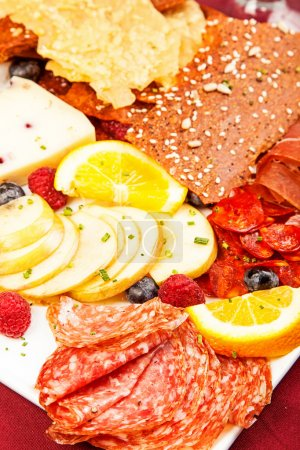 Plate of assorted meats