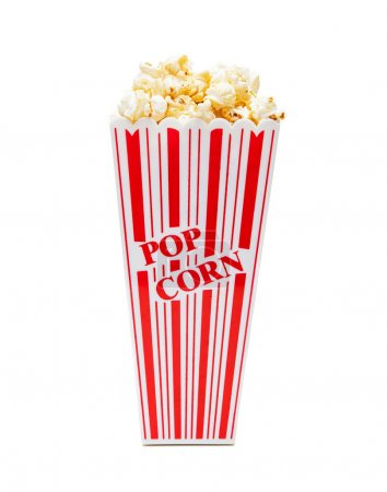 Popcorn in tall striped container