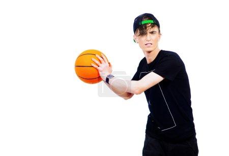 basketball player. Young man.