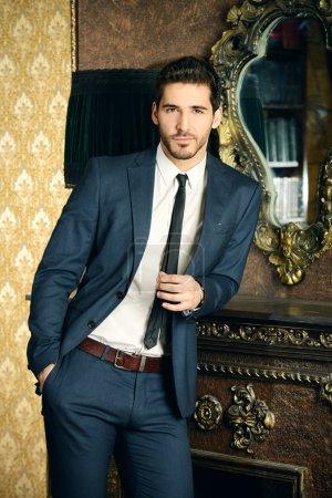 Prosperous man. Men's beauty, fashion.