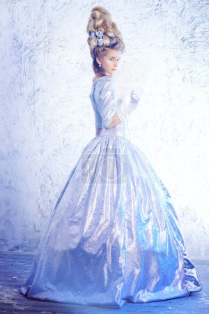 ice queen. Historical dress, hairstyles history.
