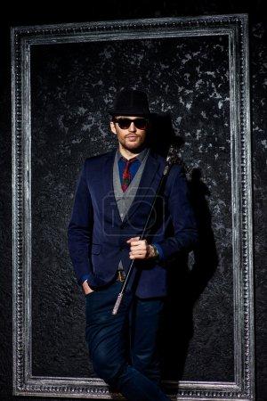 fashionable man. Men's beauty, fashion.