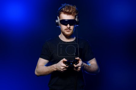 3d games. Passionate gamer with controller