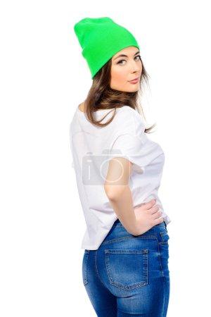 bright hat. Beauty, fashion concept.