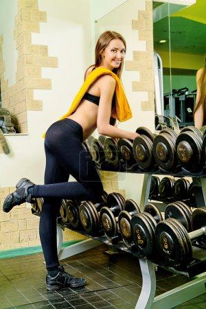 dumbbells. Fitness equipment.