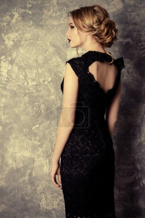 evening black dress