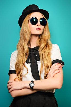 female in sunglasses