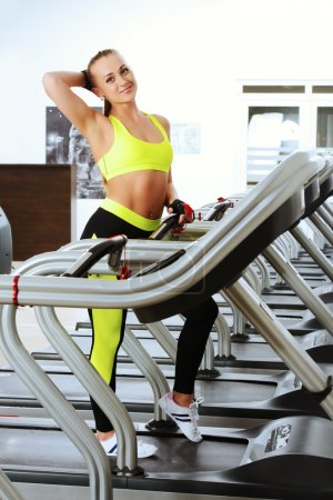 run on a treadmill