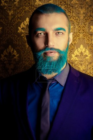 blue beard man