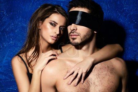 passionate embrace. BDSM.