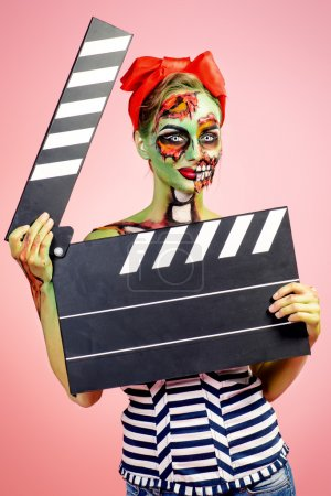 movie star. Halloween make-up.