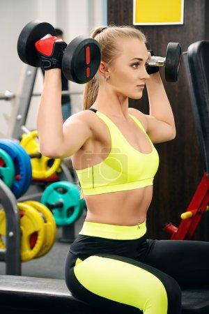 dumbbells. Fitness, bodybuilding. Healthcare.