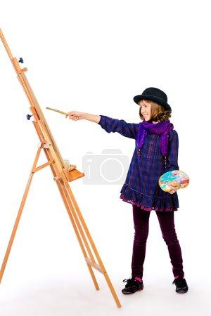 girl artist. Hobby, occupation.