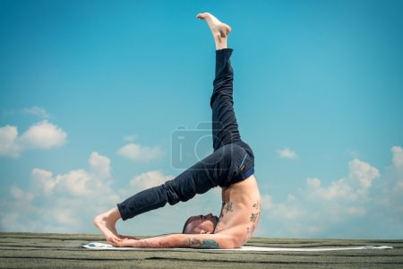 yoga and the blue sky