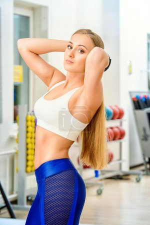 slender figure. Healthy lifestyle. Sports, fitness, bodybuilding.