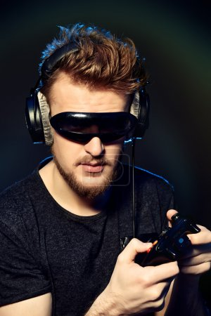 modern gamer with controller