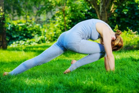 back bending. Various yoga postures.