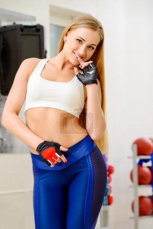 champion female. Fitness, bodybuilding. Healthcare.