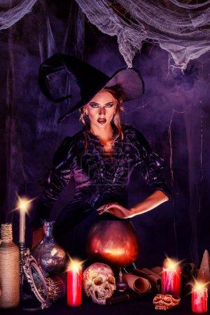 magic woman. Halloween.
