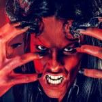 Portrait of a devil with horns. Fantasy. Art proje...