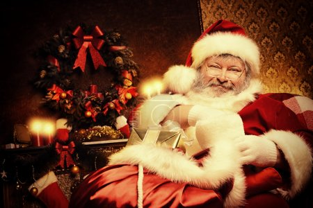 Photo for Santa Claus brought gifts for Christmas. Christmas home decoration. - Royalty Free Image