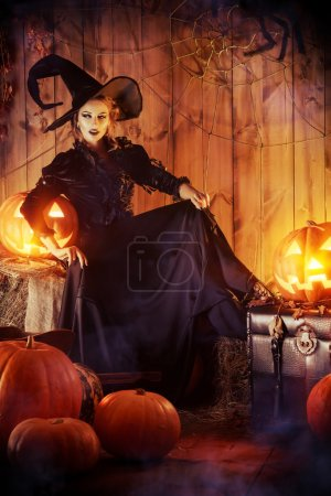 Frightening beauty witch