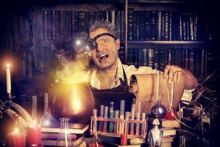 old manuscripts. Alchemist. Halloween