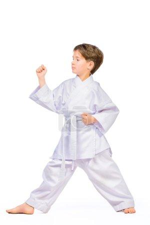 Karate boy in kimono