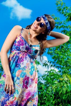 Summer mood. Hippie style.