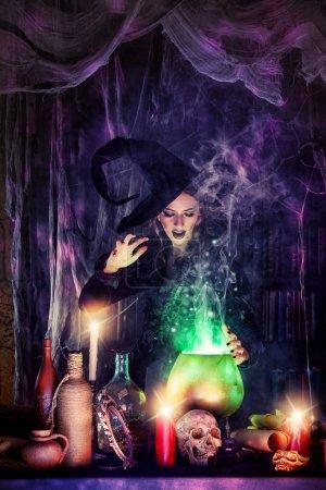 Wizarding lair. Halloween.