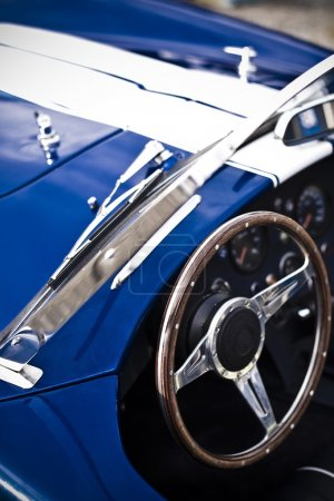 Vintage muscle car replica close up