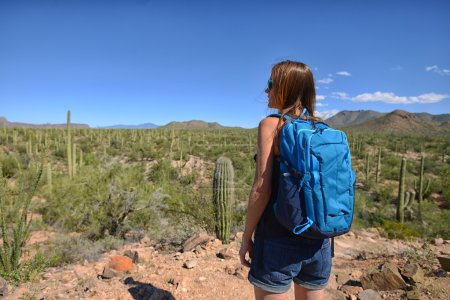 Wanderlust and desert travel and looking at the be...