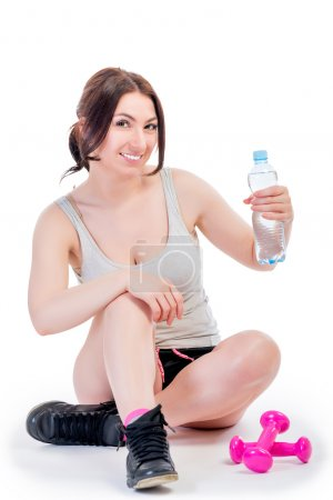 Portrait of a fitness instructor after training