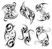 Set of tribal tattoo shapes