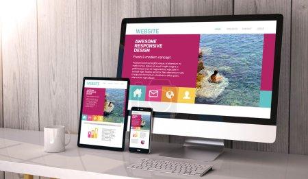 conception de site Web sensible sur les écrans