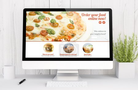 food order website on computer screen