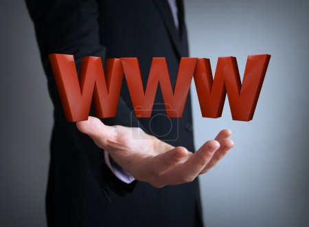 world wide web businessman